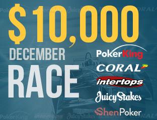 $10, 000 Pókerakadémiás Race Decemberben