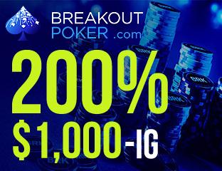 200% First Deposit Bonus $1,000-ig