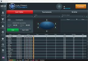 Ultima Poker lobby