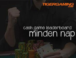 Cash Game Leaderboard naponta!