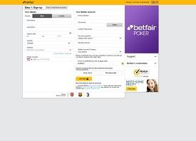 Betfair Regisztarcios ablak