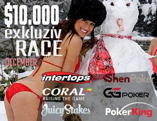 $10,000 Pókerakadémiás Race minden hónapban