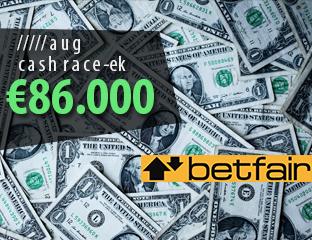 86 ezer euró értékű race-ek minden hónapban!