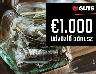 €1,000-os első befizetési bónusz majd további reload-ok kérésre