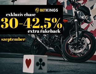 Betkings 30-42.5% Rakeback szeptemberben