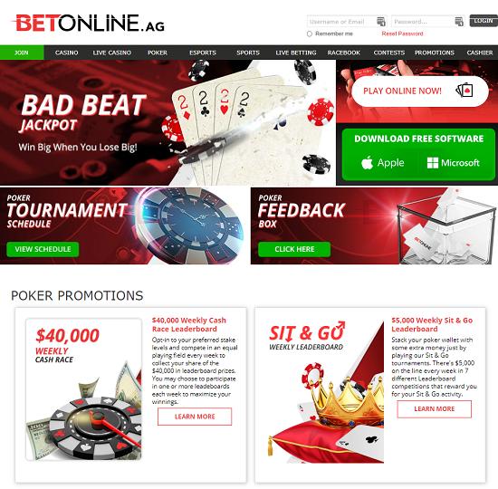 Betonline weboldal