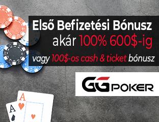 Első befizetési bónusz:100% $600-ig vagy $100 cash & ticket