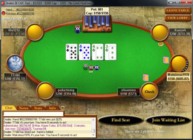 PokerStars Cash Game asztal