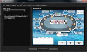 PokerStars választható asztal dizájn