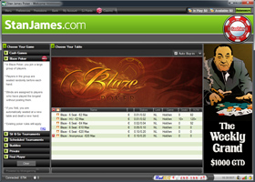 Stan James Poker Blaze Póker lobby