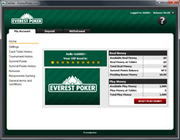 Everest Poker cashier