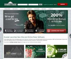 Everest Poker weboldal