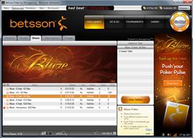 Betsson Microgaming Blaze Poker lobby