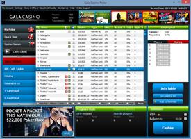 Gala Poker lobby