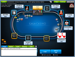 Gala Poker cash asztal