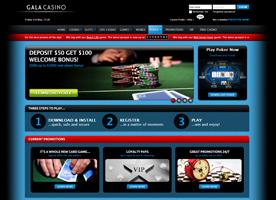 Gala Poker weboldal
