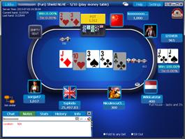 Coral Poker cash asztal