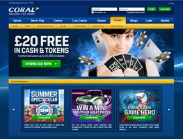 Coral Poker weboldal