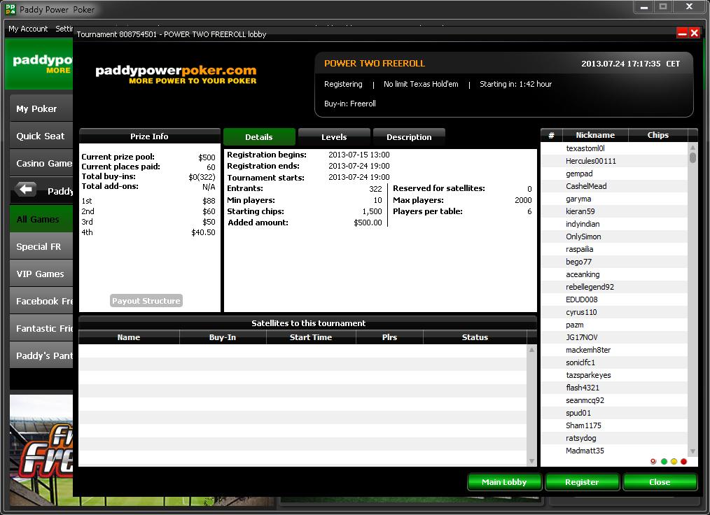 Freeroll poker versenyek
