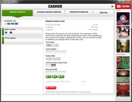 Unibet cashier