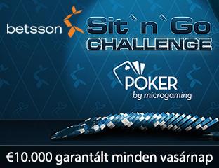 €10.000-os Sit and Go Challenge az SNG szerelmeseinek
