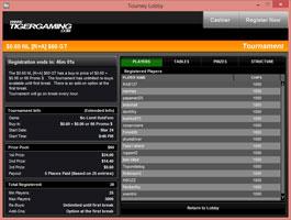 TigerGaming verseny lobby
