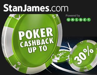 30% rakeback az akadémiás játékosoknak a Stan James-en