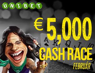 Unibet - €5,000 - exkluzív cash race - 2018. február 1-28.