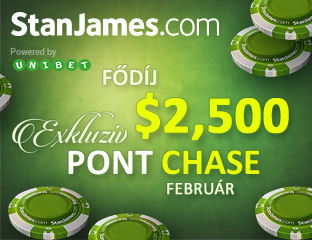 Stan James Poker - Microgaming - exkluzív point chase - 2018. február 1-22.