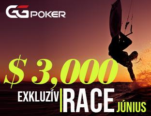 GGPoker - $3,000 - exkluzív rake race - 2018. június 1-30.