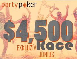 PartyPoker - Party-bwin - $4,500 - exkluzív cash race - 2018. június 1-30.