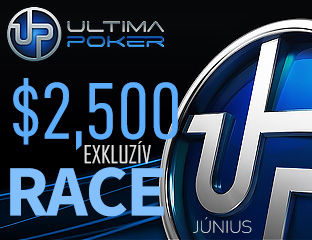 Ultima Poker - $2,500 - exkluzív rake race - 2018. június 1-30.