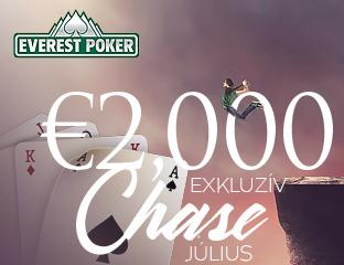 Everest Poker - iPoker - exkluzív cash chase - 2018. július 1-31.