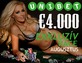 Unibet - €4,000 - exkluzív cash race - 2018. augusztus 1-31.