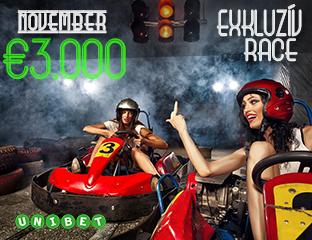 Unibet - €3,000 - exkluzív cash race - 2018. november 1-30.