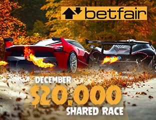 Betfair - $10,000 - pooled cash race - 2018. december 1-15.