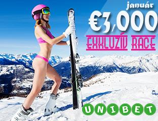 Unibet - €3,000 - exkluzív cash race - 2019. január 1-31.