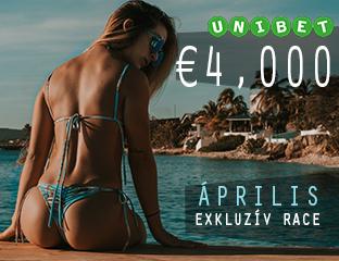 Unibet - €4,000 - exkluzív cash race - 2019. április 1-30.