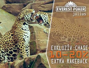 Everest Poker - iPoker - exkluzív cash chase - 2019. július 1-31.