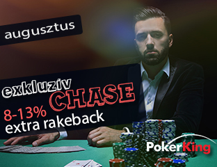 PokerKing - Winning Poker Network - exkluzív rake chase - 2019. augusztus 1-31.