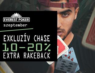 Everest Poker - iPoker - exkluzív cash chase - 2019. szeptember 1-30.