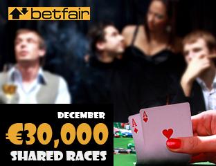 Betfair - €15,000 - pooled cash race - 2019. december 1-15.