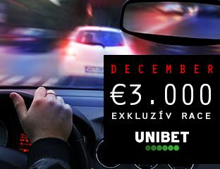 Unibet - €3,000 - exkluzív cash race - 2019. december 1-31.