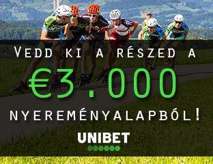 Unibet - €3,000 - exkluzív cash race - 2020. január 1-31.