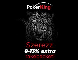 PokerKing - Winning Poker Network - exkluzív rake chase - 2020. április 1-30.