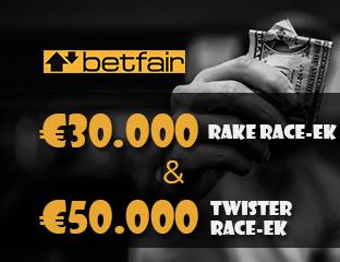 Betfair - €15,000 - pooled cash race - 2020. május 16-31.