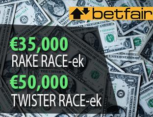Betfair - €17,500 - pooled cash race - 2020. augusztus 1-15.