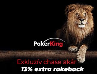 PokerKing - Winning Poker Network - exkluzív rake chase - 2020. augusztus 1-31.