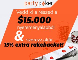 partypoker - $15,000 - exkluzív cash race - 2020. szeptember 1-30.