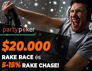 partypoker - $20,000 - exkluzív cash race - 2020. december 1-31.